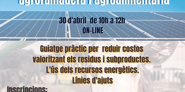 Jornada L'economia Circular i les energies renovables en l'empresa agroramadera i agroalimentària
