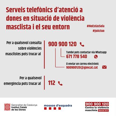 Serveis d'atenció contra la violència masclista