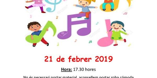 Trobada musicoterapia per infants d'1 a 4 anys