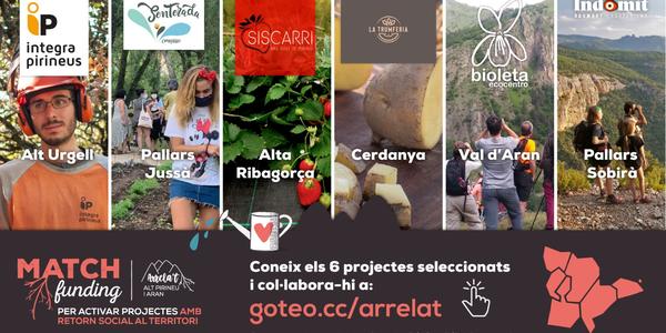 Comença el micromecenatge dels sis projectes guanyadors del Matchfunding Arrela't