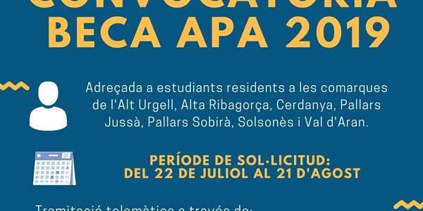 Convocatòria BECA APA 2019