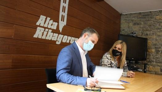 Visita institucional del delegat del govern de l'Alt Pirineu i Aran a l'Alta Ribagorça